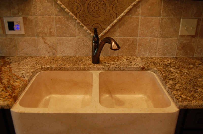 Double Bowl Sink with Star Beach Granite